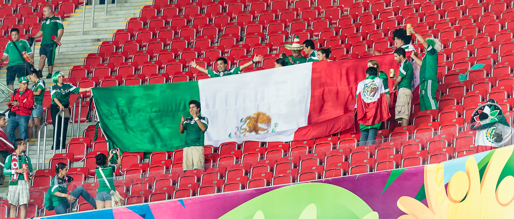 Fans with the Flag